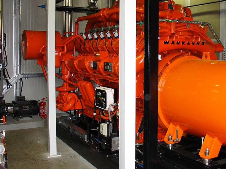 Gruppo elettronico di un impianto di cogenerazione in una azienda plastica in provincia di Lodi