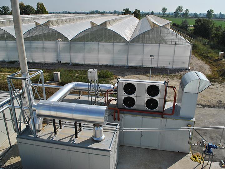 Impianto di cogenerazione in un'azienda agricola in provincia di Lodi
