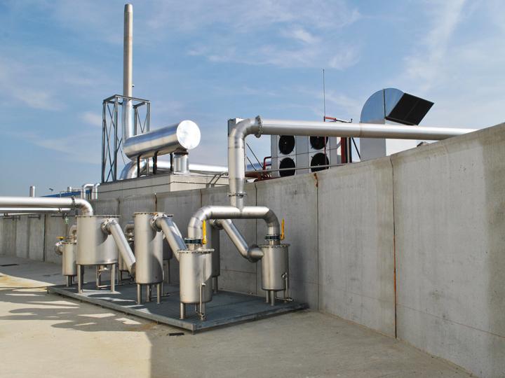 Trattamento del biogas in un'azienda agricola di Lodi