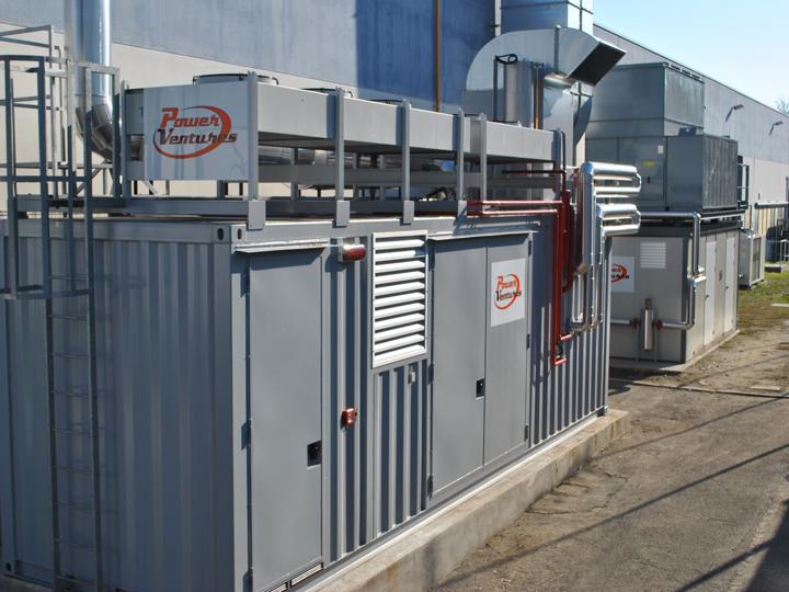 Container impianto di cogenerazione di un impianto di trigenerazione in un'azienda di ristorazione collettiva in provincia di Bologna