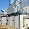 Container con gruppo frigo di un impianto di trigenerazione in una azienda di ristorazione collettiva in provincia di Bologna