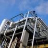 Dettaglio della linea fumi di un impianto di trigenerazione a Vicenza nel settore alimentare per la produzione di elettricità/vapore/acqua.
